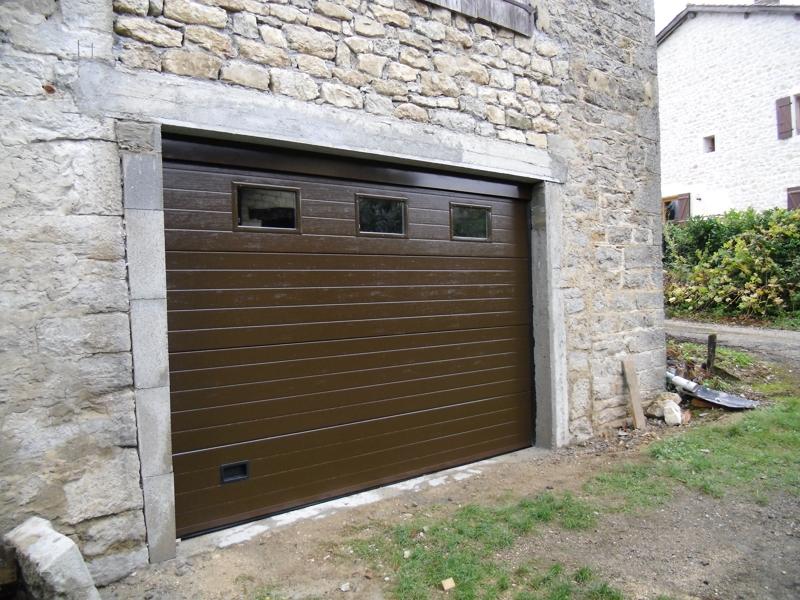 Portes de garage cidev technologie - Porte de garage sectionnelle non motorisee ...