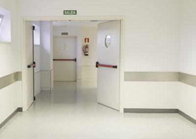 Hospital exit door